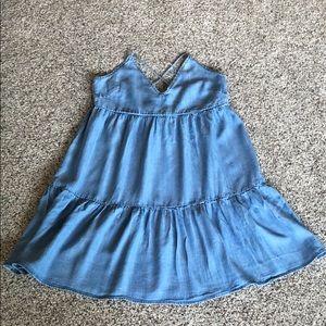 Chambray lace up Dress